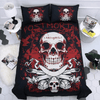 Post Mortem Red Skull Bedding Set Bedding covers Svetanya Sinlge
