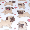 Pug Animal Cartoon Flat Sheet Bedding Covers Sheets BeddingOutlet