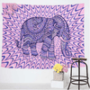 Purple Elephants Colored Tapestry Tapestry BeddingOutlet 150x102cm