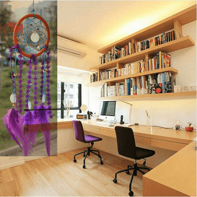 Purple Ethnic Dream Catcher Wind Chime Dream Catcher Wind Chimes NAI YUE