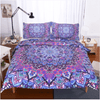 Purple Glowing Mandala Duvet Cover Bedding covers BeddingOutlet Single
