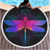 Purple Pink Insect Round Beach Towel Beach/Bath Towel BeddingOutlet Diameter 150cm