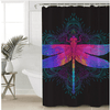 Purple Pink Insect Shower Curtain Shower Curtains BeddingOutlet 165x180cm