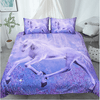 Purple Unicorns Printed Bedding Set Bedding Set BeddingOutlet Single