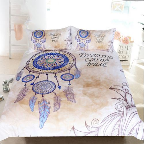 Queen Feathers Print Duvet Cover Bedding Set BeddingOutlet Single