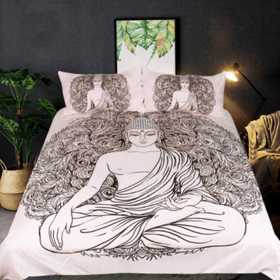 Queen Peceful Meditating Duvet Cover Set Bedding Set BeddingOutlet Single