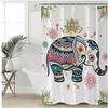 Rainbow Elephant Shower Curtain Shower Curtains BeddingOutlet 90x180cm