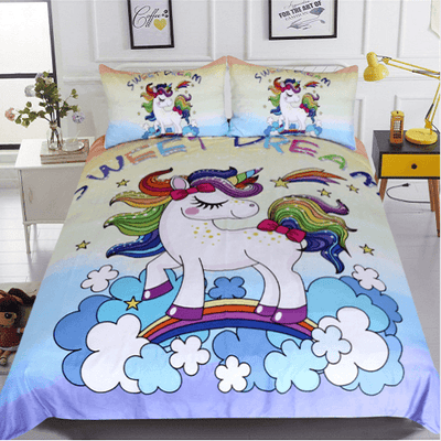 Rainbow Unicorn Bedding Set Bedding Cover Set BeddingOutlet Single
