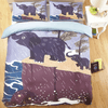 Raining Baby Elephant Bedding Set Bedding covers Svetanya Single