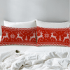 Red and White Elk Pillow Case Pillowcases BeddingOutlet 50cmx75cm