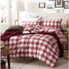 Red and White Plaid Duvet Cover Set Bedding Cover Set Svetanya Single