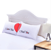 Red Heart Together Pillowcase Pillowcases BeddingOutlet 50cmx75cm