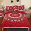 Red Mandala Bedding Set Bedding covers BeddingOutlet Single