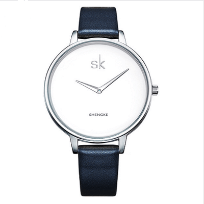 Relogio Feminino Female Wrist Watch Women Silver Watches SHENGKE Black