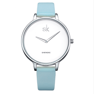 Relogio Feminino Female Wrist Watch Women Silver Watches SHENGKE Blue