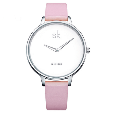 Relogio Feminino Female Wrist Watch Women Silver Watches SHENGKE Pink
