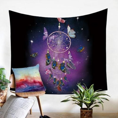 Romantic Purple Dreamcatcher Wall Hanging Tapestry Tapestry BeddingOutlet 130 x 150 cm