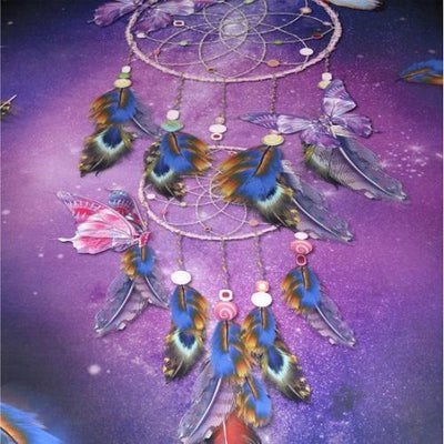Romantic Purple Dreamcatcher Wall Hanging Tapestry Tapestry BeddingOutlet