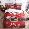 Santa Drive Christmas Duvet Cover Set Bedding covers Svetanya Single
