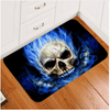 Skull Blue Fire Door Mats Door & Floor Mats BeddingOutlet 40x60cm
