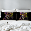 Skull Purple Flower Pillowcase Pillowcases BeddingOutlet 50cmx75cm