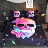 Skull Rose Floral Duvet Cover Set Bedding Set BeddingOutlet Single