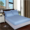 Sky Blue Mattress Cover Bed Sheet Fitted Sheets Kekegentleman 90x200x25cm
