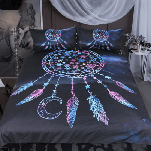 Snowflake Feathers Bedding Set Bedding Cover Set BeddingOutlet Single