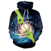 Space Galaxy Printed Finger Women Hoodies Hoodies NADANBAO M
