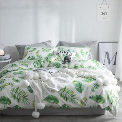 Spring Leaves series Bedding sets Bedding Cover Set Svetanya Single