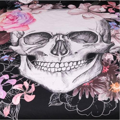 Sugar Skull and Floral Tapestry Tapestry BeddingOutlet