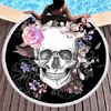 Sugar Skull Round Beach Towel Beach/Bath Towel BeddingOutlet Diameter 150cm