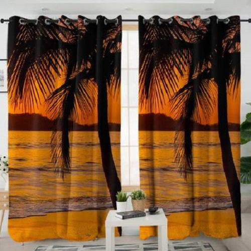 Sunset Living Room Curtain Window Curtain BeddingOutlet W100xH130cm