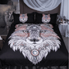 Tattoo Head Wolf Bedding Set Bedding Cover Set BeddingOutlet Single