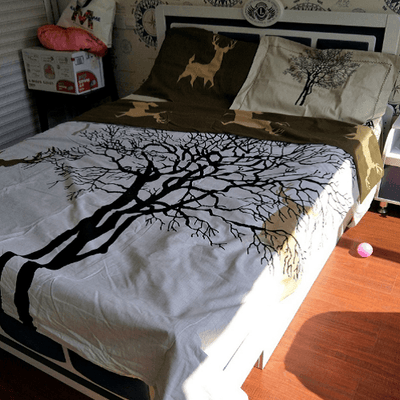 Tree Deer Bedding Set Bedding Cover Set Svetanya