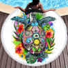 Turtle Life Cold Art Round Beach Towel Beach/Bath Towel BeddingOutlet Diameter 150cm