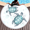 Turtles Round Beach Towel Beach/Bath Towel BeddingOutlet Diameter 150cm