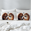 Two Tigers Printed Duvet Cover Bedding Cover Set BeddingOutlet
