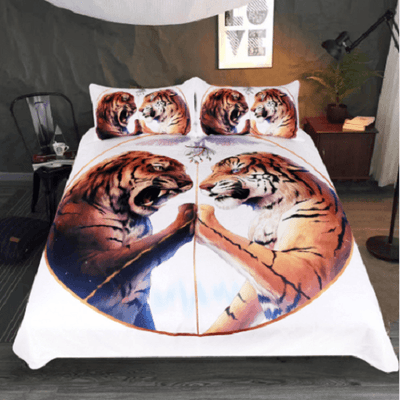 Two Tigers Printed Duvet Cover Bedding Cover Set BeddingOutlet AU Single
