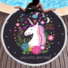 Unicorn Floral Toalla Beach Towel Beach/Bath Towel BeddingOutlet Diameter 150cm