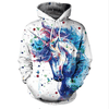 Unicorn Printed Women Hoodies Hoodies NADANBAO M