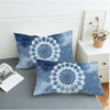 Vintage Cobalt Blue Mandala Pillow Case Pillowcases BeddingOutlet 50cmx75cm