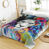 Watercolor Lion Print Flat Sheet Bedding Covers Sheets BeddingOutlet Twin