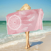 Watercolor Pink Dreamcatcher Towel Beach Towel BeddingOutlet 75cmx150cm