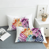 Watercolor Zebra Pillow Case Pillowcases BeddingOutlet 50cmx75cm