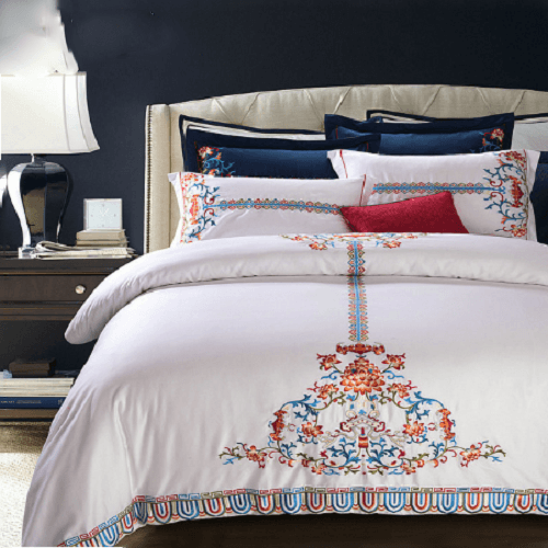White Embroidery Duvet Cover Sets Embroidered Bed Set Svetanya Single