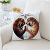 White Tiger Printed Cushion Cover Cushion Cover BeddingOutlet 45cmx45cm