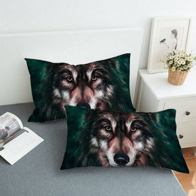 Wolf 3D Painting Bedding Set Bedding covers BeddingOutlet