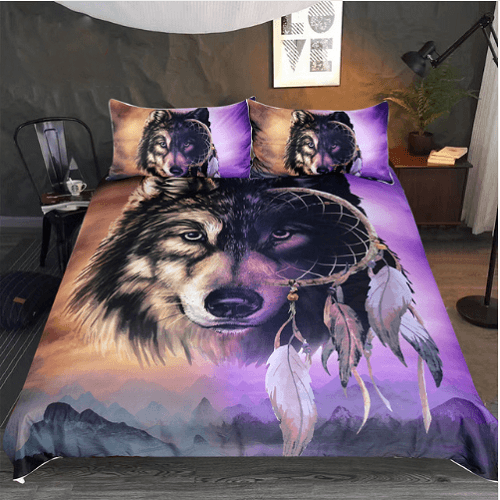 Wolf Bedding Set Bedding Cover Set BeddingOutlet Single