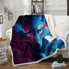 Wolf Eye Beds Blanket Throw Blanket BeddingOutlet 130cmx150cm